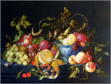 Poster  A Still Life of Fruit - Cornelis de Heem