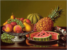 Sticker mural  Still Life with Fruit - Levi Wells Prentice
