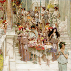 Sticker mural  Spring (detail) - Lawrence Alma-Tadema