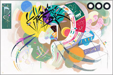 Sticker mural  Courbe dominante - Wassily Kandinsky