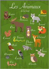 Sticker mural  Les animaux de la forêt - Kidz Collection