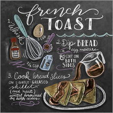 Sticker mural  Recette du French toast (anglais) - Lily & Val