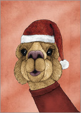 Sticker mural  Alpaca Christmas - Barruf