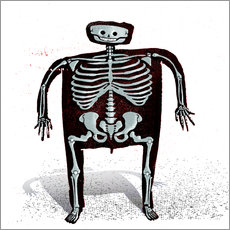 Sticker mural skeleton