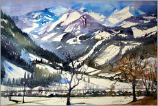 Sticker mural  Pinzgau winter landscape near Bruck - Johann Pickl