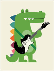 Tableau en plexi-alu  Croco Rock - Andy Westface