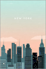 Tableau en plexi-alu  Illustration New York - Katinka Reinke