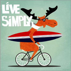 Sticker mural Live simply