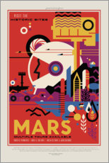 Tableau en plexi-alu  Retro Space Travel, Mars