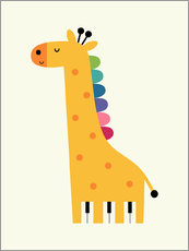 Sticker mural  Girafe piano - Andy Westface