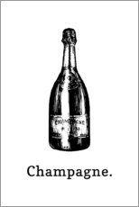 Poster  Bouteille de champagne - Typobox