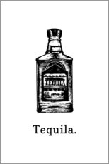Poster  Bouteille de tequila - Typobox
