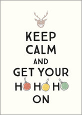 Tableau en plexi-alu  Keep calm and get your Hohoho on - Typobox
