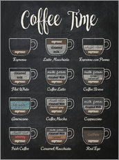 Poster  Coffee time - Typobox
