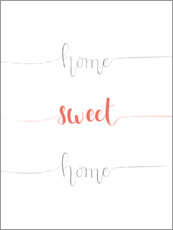 Tableau en PVC  Home sweet home - Typobox