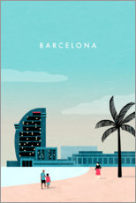 Poster Illustration Barcelona