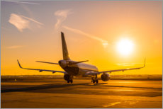 Poster Airbus A320 NEO le matin