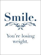 Poster  Smile, you're losing weight - Typobox