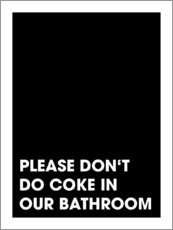 Tableau en plexi-alu  Please don't do coke - Typobox