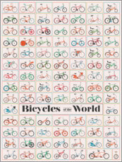 Poster Bicycles of the World