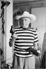 Poster  Picasso avec un revolver - Celebrity Collection