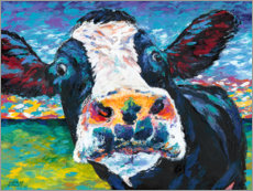 Poster  Vache curieuse I - Carolee Vitaletti