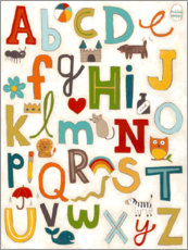Sticker mural  Lettres de l'alphabet - June Vess