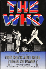 Tableau en verre acrylique  The Who, Hall of Fame - Entertainment Collection