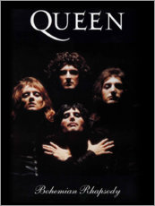 Tableau en bois  Queen, Bohemian Rhapsody - Entertainment Collection