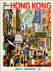 Tableau en PVC  Hong Kong - Jet BOAC - Travel Collection