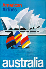 Poster American Airlines, Australie (anglais)