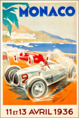 Tableau en verre acrylique  Grand Prix de Monaco, 1936 - Travel Collection