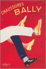 Tableau en verre acrylique  Chaussures Bally - Advertising Collection
