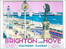 Poster  Brighton et Hove (anglais) - Kenneth Shoesmith