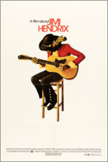 Poster  Jimi Hendrix 1973 - Entertainment Collection