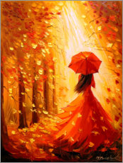 Poster Dame Automne