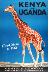 Poster  Kenya et Ouganda (anglais) - Travel Collection
