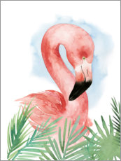 Poster Composition flamant rose I