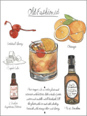 Poster Cocktail Old Fashioned (anglais)