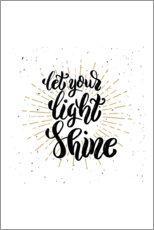 Poster Let your light shine
