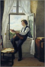 Sticker mural  The violinist at the window in 1861 - Otto Franz Scholderer