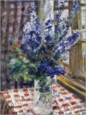 Sticker mural  Glass vase with Larkspur. 1924 - Lovis Corinth