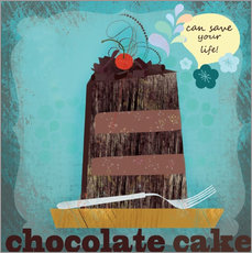 Sticker mural Chocolate cake can save your life
