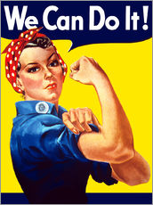 Tableau en plexi-alu  Rosie the Riveter, We can do it ! - John Parrot