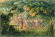 Sticker mural  Fairy Dance in a Clearing - Richard Doyle