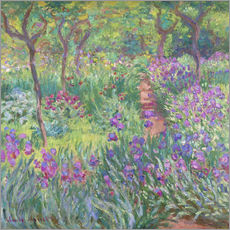 Sticker mural  Le Jardin aux Iris, Giverny - Claude Monet