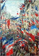 Poster  Rue Saint-Denis le jour de la fête nationale - Claude Monet