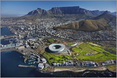 Sticker mural  Cape Town Stadium et Table Mountain - David Wall
