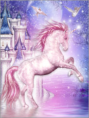 Sticker mural  Licorne magique rose - Dolphins DreamDesign