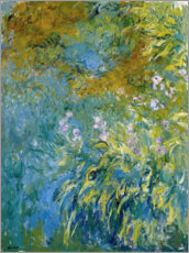 Sticker mural  Iris jaunes - Claude Monet